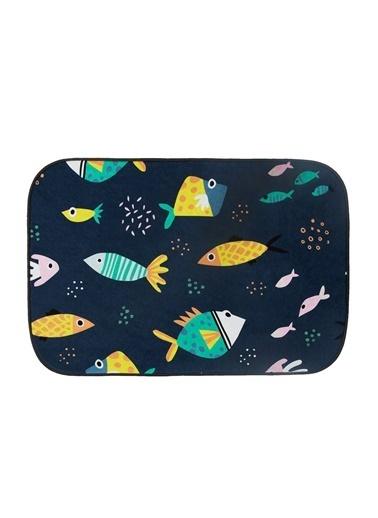 Hamur Bebek Çocuk Ev İçi Kapı Önü Paspası 50x75 cm Fishes Oyun Matı Renkli